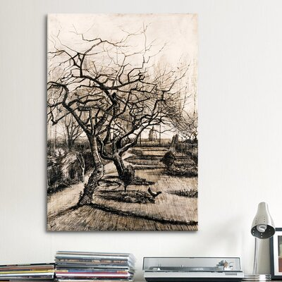 iCanvasArt 'The Parsonage Garden at Nuenen in Winter' by Vincent Van Gogh Painting Print on Canvas