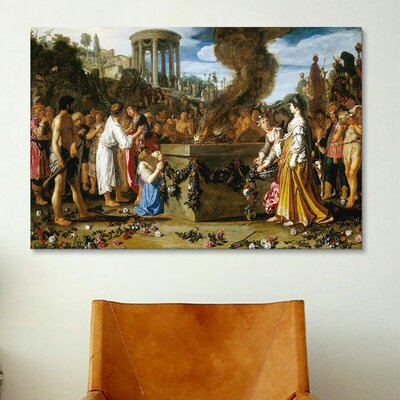 iCanvasArt Fine Art 'Orestes and Pylades Disputing at the Altar' by Pieter Lastman Painting Print on Canvas