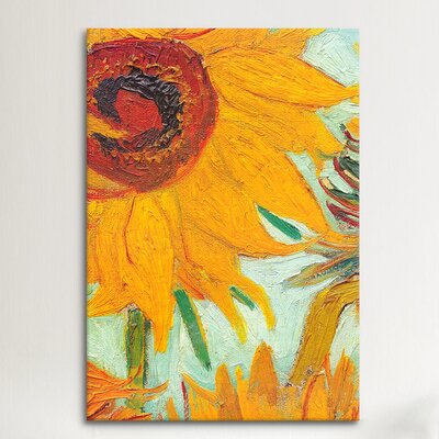 iCanvasArt 'Twelve Sunflowers (Detail)' by Vincent Van Gogh Painting Print on Canvas