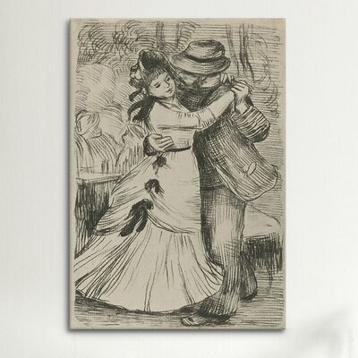 iCanvasArt 'La Danse a la Campagne' by Pierre-Auguste Renoir Painting Print on Canvas