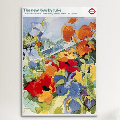 iCanvasArt 'The New Kew (Gardens)' Tube London Underground Painting Print on Canvas