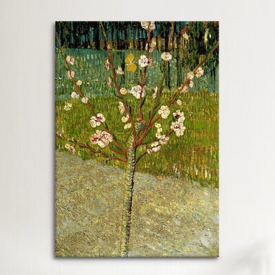 iCanvasArt 'Almond Tree in Blossom' by Vincent van Gogh Painting Print on Canvas