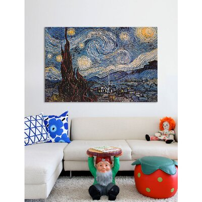 iCanvasArt 'The Starry Night' by Vincent Van Gogh Painting Print on Canvas