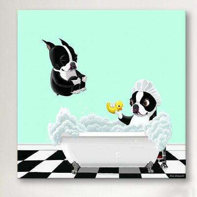 iCanvasArt 'Bath Tub BT' by Brian Rubenacker Graphic Art on Canvas