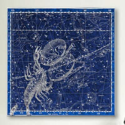iCanvasArt Celestial Atlas - Plate 19 (Libra, Scorpio) by Alexander Jamieson Graphic Art on Canvas in Blue
