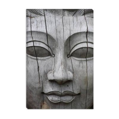 iCanvasArt Buddha's Face Photographic Canvas Wall Art
