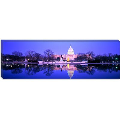 iCanvasArt Christmas, US Capitol, Washington DC, District of Columbia Canvas Wall Art