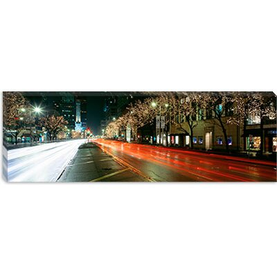 iCanvasArt Michigan Avenue During the Holidays, Chicago, Illinois Canvas Wall Art