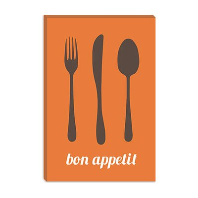 iCanvasArt Bon Appetit Canvas Wall Art