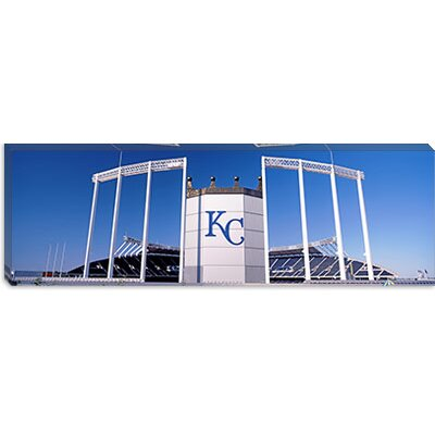 iCanvasArt Kauffman Stadium, Kansas City, Missouri Canvas Wall Art