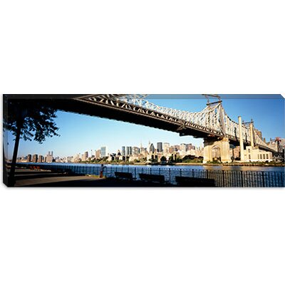 iCanvasArt Queensboro Bridge, East River, Manhattan, New York City, New York State Canvas Wall ...
