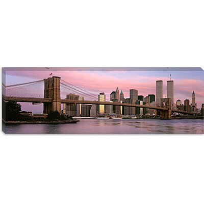 iCanvasArt Brooklyn Bridge, Manhattan, New York City, New York State Canvas Wall Art