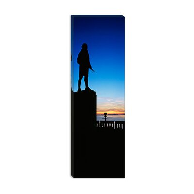 iCanvasArt Captain Cook Monument Silhouetted by Sunset Alaska Canvas Wall Art