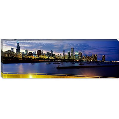 iCanvasArt Buildings at the Waterfront, Lake Michigan, Chicago, Illinois Canvas Wall Art