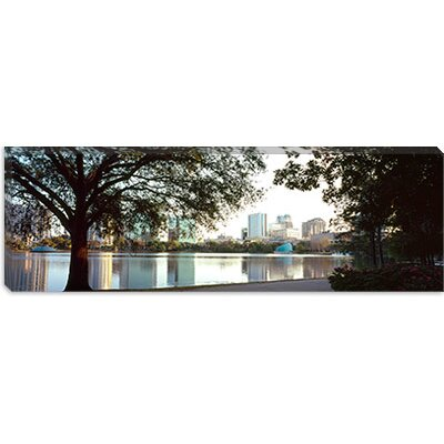iCanvasArt Buildings at the Waterfront, Lake Eola, Orlando, Orange County, Florida Canvas Wall Art