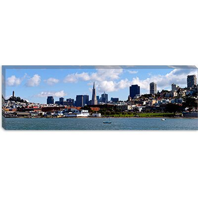 iCanvasArt City at The Waterfront, Coit Tower, Telegraph Hill, San Francisco, California Canvas ...