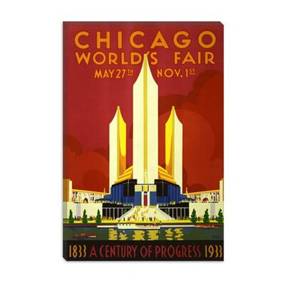 iCanvasArt Chicago World's Fair 1933 Vintage Poster