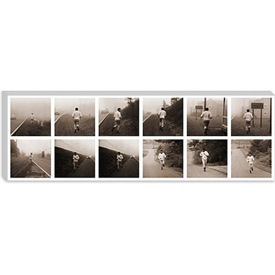 iCanvasArt Muhammad Ali in Training, Jogging in Deerpark, PA Photographic Print on Canvas
