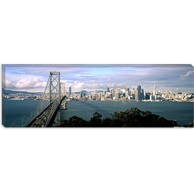 iCanvasArt Bay Bridge in San Francisco, California Canvas Wall Art
