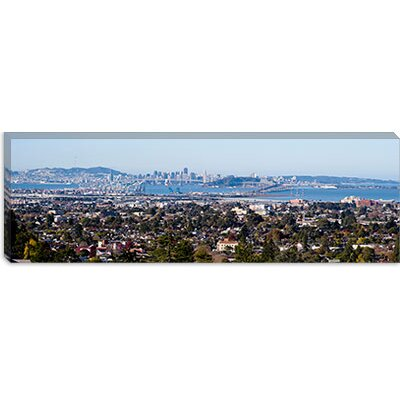iCanvasArt Buildings in a city, Oakland, San Francisco Bay, California Canvas Wall Art