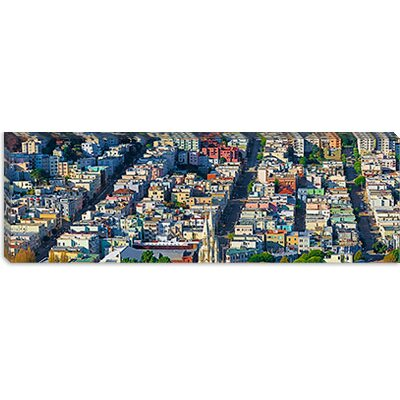iCanvasArt Buildings in a City Viewed from the Coit Tower of Russian Hill, San Francisco, ...