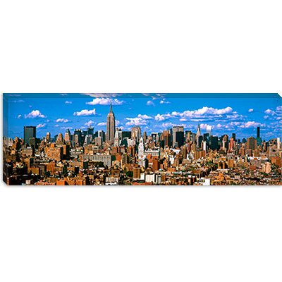 iCanvasArt Aerial View of a City, Midtown Manhattan, New York City Canvas Wall Art