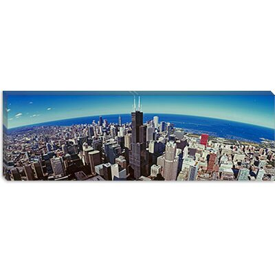 iCanvasArt Aerial view of Chicago, Illinois Canvas Wall Art