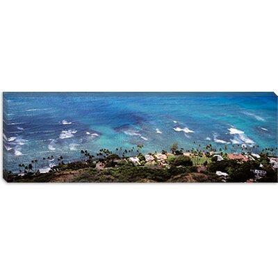iCanvasArt Aerial View of the Pacific Ocean, Ocean Villas, Honolulu, Oahu, Hawaii Canvas Wall ...