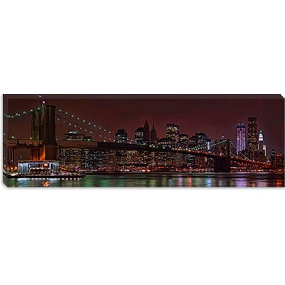 iCanvasArt Jane's Carousel at The Base of the Brooklyn Bridge, New York City Canvas Wall ...