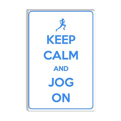 iCanvasArt Keep Calm and Jog on Canvas Wall Art