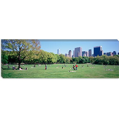 iCanvasArt Sheep Meadow, Central Park, New York City Canvas Wall Art