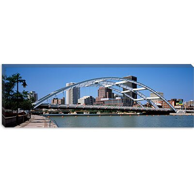 iCanvasArt Frederick Douglas-Susan B. Anthony Memorial Bridge Across the Genesee River, ...