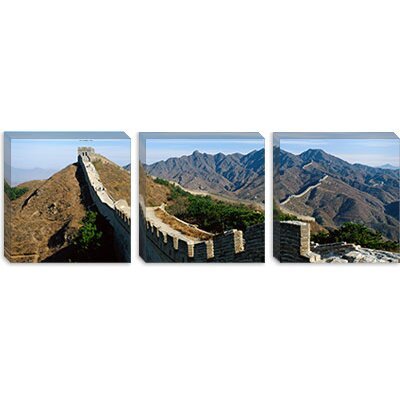 iCanvasArt Great Wall of China Canvas Wall Art