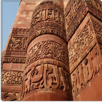 iCanvasArt Delhi's Tower of Victory Carvings Photographic Canvas Wall Art