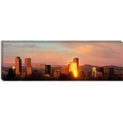 iCanvasArt Denver Skyline Canvas Wall Art