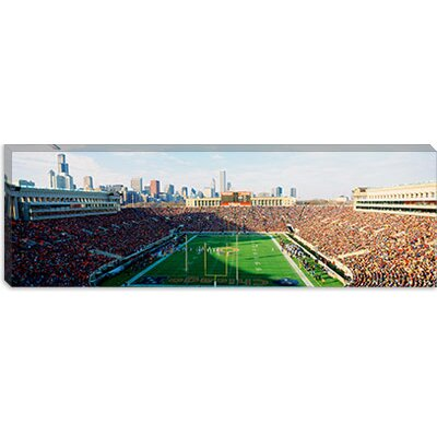 iCanvasArt Spectators in a Stadium, Chicago, Illinois Canvas Wall Art