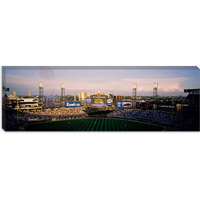iCanvasArt Spectators in a Stadium, U.S. Cellular Field, Chicago, Illinois Canvas Wall Art