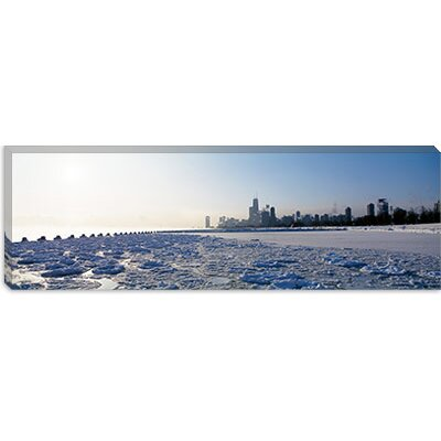 iCanvasArt Lake Michigan, Chicago, Illinois Canvas Wall Art