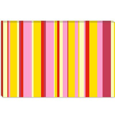 iCanvasArt Fruity Icecream Desert Striped Canvas Wall Art