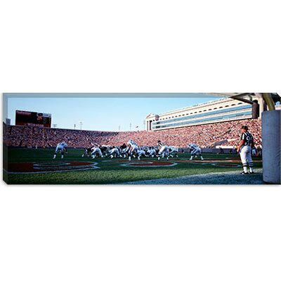 iCanvasArt Football Game, Soldier Field, Chicago, Illinois Canvas Wall Art