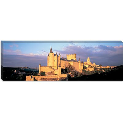 iCanvasArt Alcazar Castle, Old Castile, Segovia Spain Canvas Wall Art
