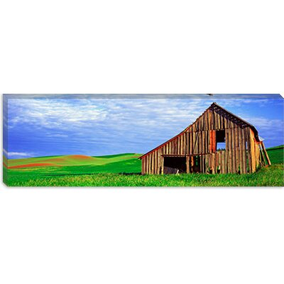 iCanvasArt Dilapidated Barn in A Farm, Palouse, Whitman County, Washington State Canvas Wall Art