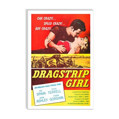 iCanvasArt Dragstrip Girl Vintage Movie Poster