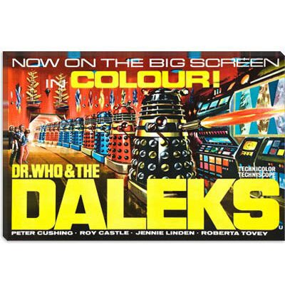 iCanvasArt Dr. Who and The Daleks Vintage Movie Poster