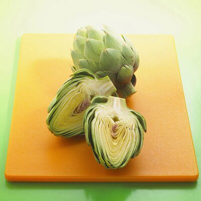 iCanvasArt Sliced Artichokes on a Board Photographic Canvas Wall Art