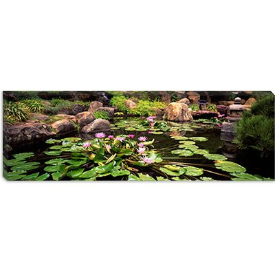iCanvasArt Japanese Garden, University of California, Los Angeles, California Canvas Wall Art