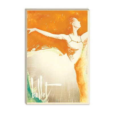 iCanvasArt Orange Splash Ballerina Canvas Wall Art