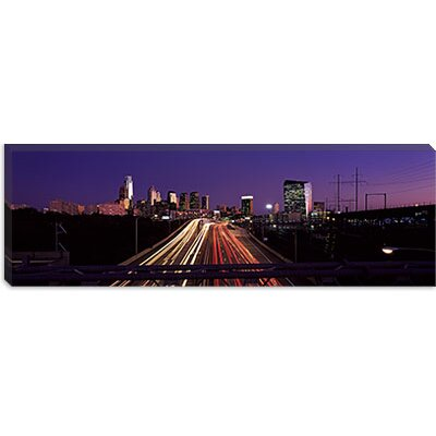 iCanvasArt Light Streaks of Vehicles on Highway at Dusk, Philadelphia, Pennsyl Vania Canvas ...