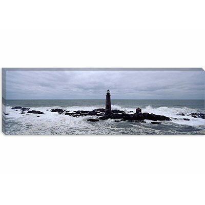 iCanvasArt Graves Light, Boston Harbor, Massachusetts Canvas Wall Art