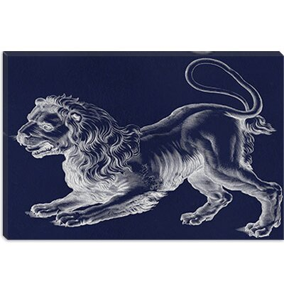 iCanvasArt Leo (Lion) III Canvas Wall Art